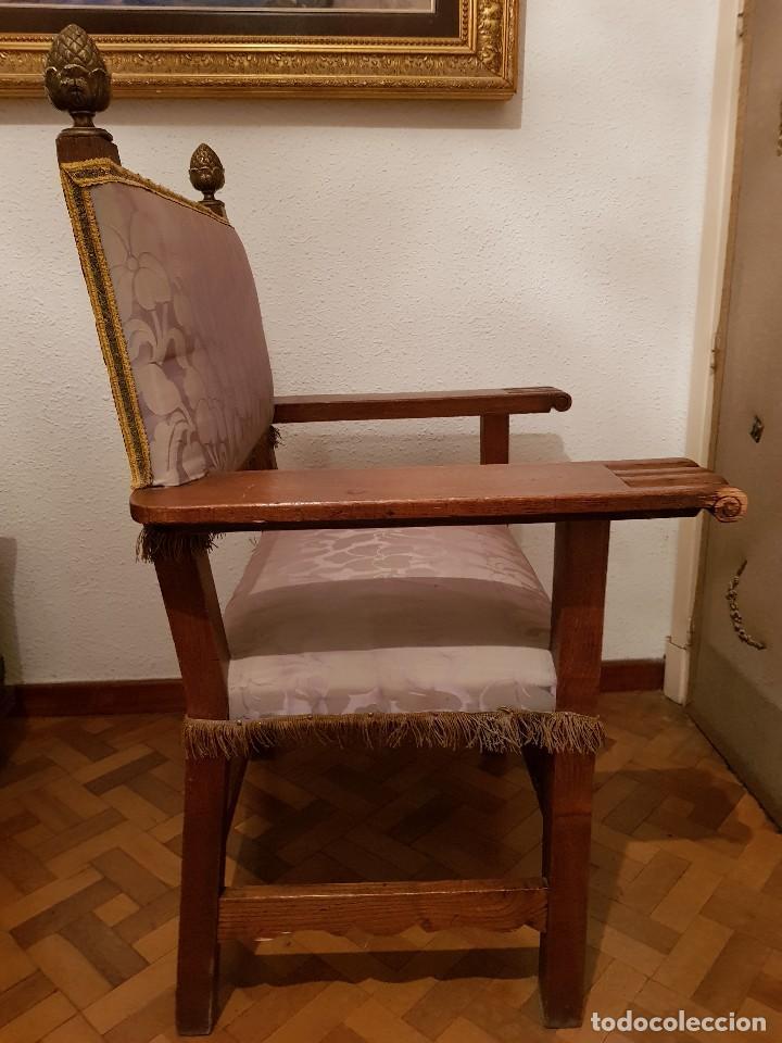 Antigüedades: Sillón frailero de roble. - Foto 6 - 119584643