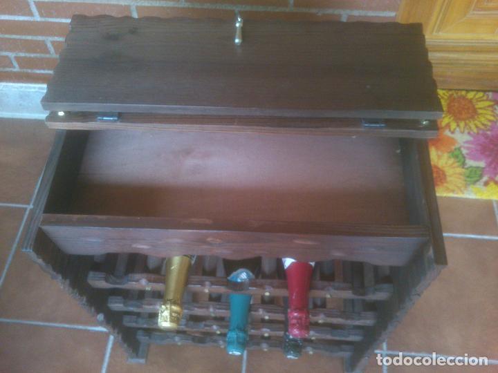 Antigüedades: Botellero rustico en madera 20 botellas - Foto 4 - 119586167