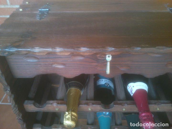 Antigüedades: Botellero rustico en madera 20 botellas - Foto 5 - 119586167