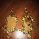 Antigüedades: MARAVILLOSA PAREJA DE CORNO-COPIAS DE BRONCE. Lote 119618883