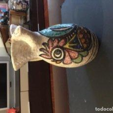Antigüedades: JARRA CERÁMICA SANGUINO TOLEDO CON GALLO. Lote 119628595