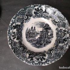 Antigüedades: PLATO HONDO SUELTO, LA CARTUJA PICKMAN NEGRO, ANTIGUO.. Lote 119633659