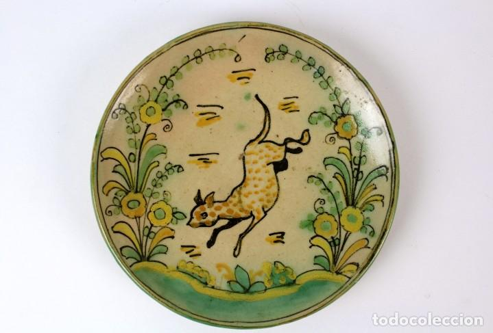Antigüedades: TAZON Y PLATO EN PORCELANA .PUENTE DEL ARZOBISPO.PRINCIPIOS DE SIGLO XX - Foto 2 - 119637259