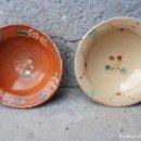 Antigüedades: DOS ANTIGUO PLATITOS DE LA BISBAL. Lote 119649539