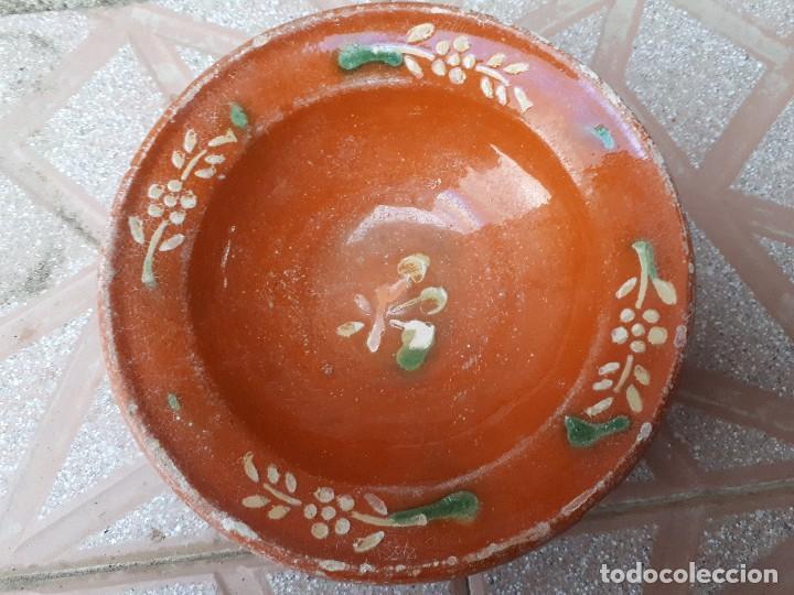 Antigüedades: dos antiguo platitos de la bisbal - Foto 2 - 119649539