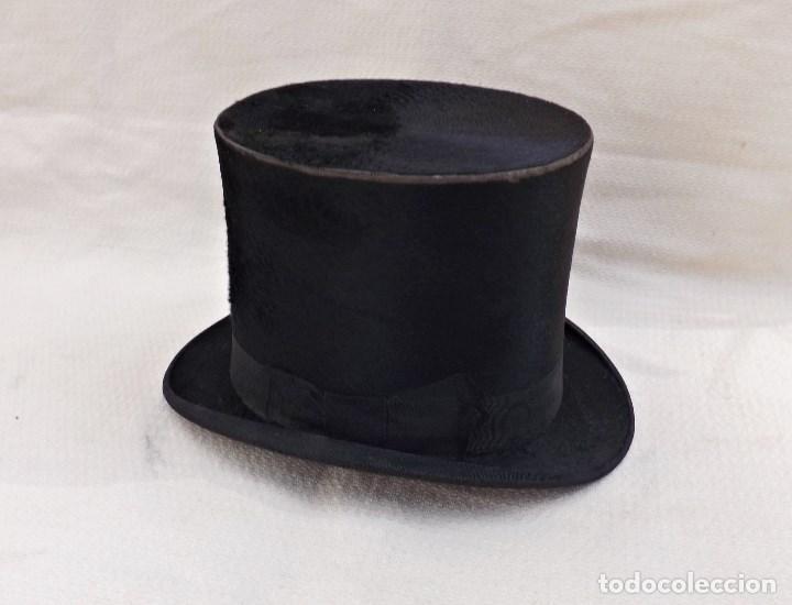 ANTIGUO SOMBRERO DE COPA (Antigüedades - Moda - Sombreros Antiguos)