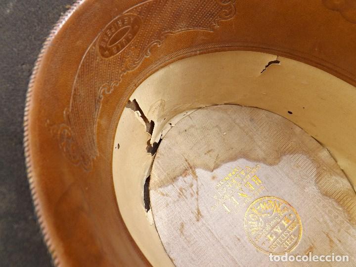 Antigüedades: ANTIGUO SOMBRERO DE COPA - Foto 8 - 119656191
