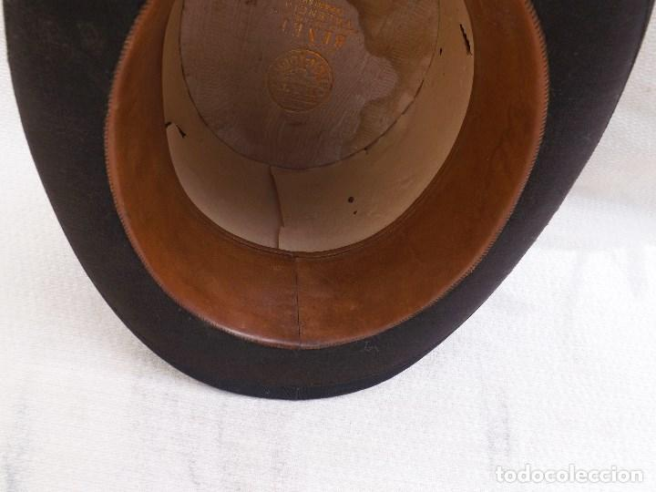 Antigüedades: ANTIGUO SOMBRERO DE COPA - Foto 10 - 119656191