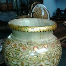 Antigüedades: TINAJA DE MARMOL, PINTADO A MANO. Lote 119686138