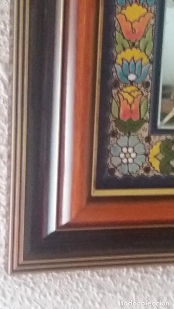 Antigüedades: Espejo de esmalte y madera - Foto 2 - 119693311