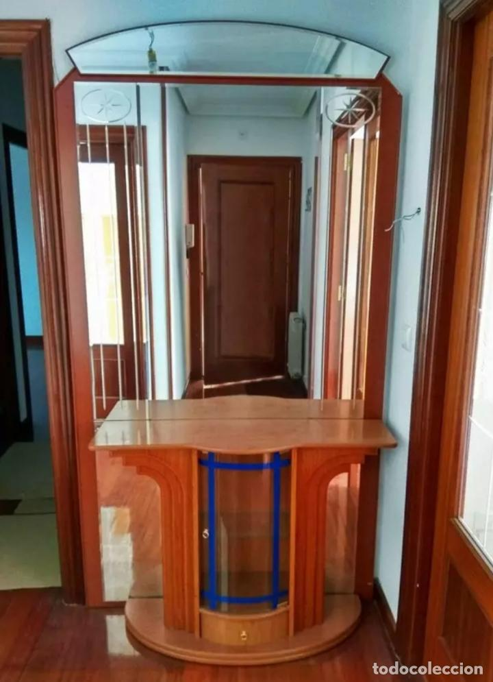 MUEBLE RECIBIDOR Y ESPEJO ANTIGUO (Antigüedades - Muebles Antiguos - Aparadores Antiguos)