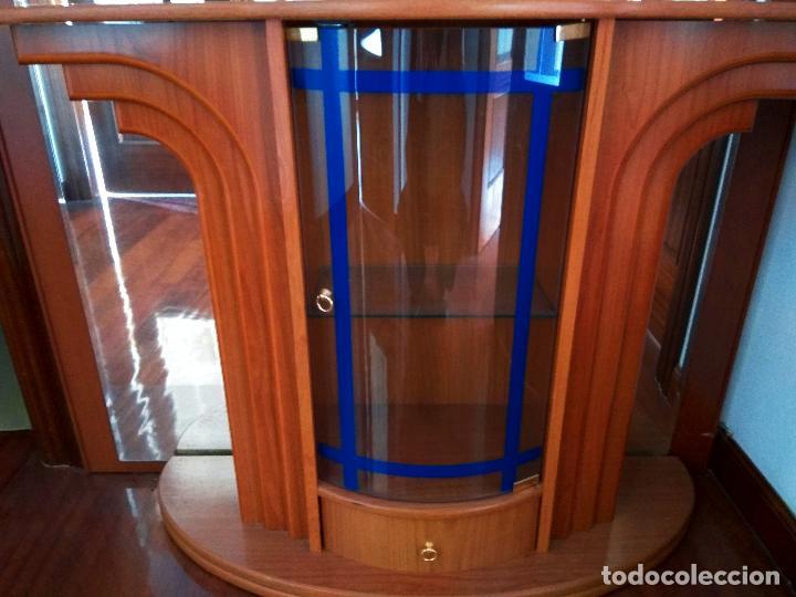 Antigüedades: Mueble recibidor y espejo antiguo - Foto 3 - 119756411