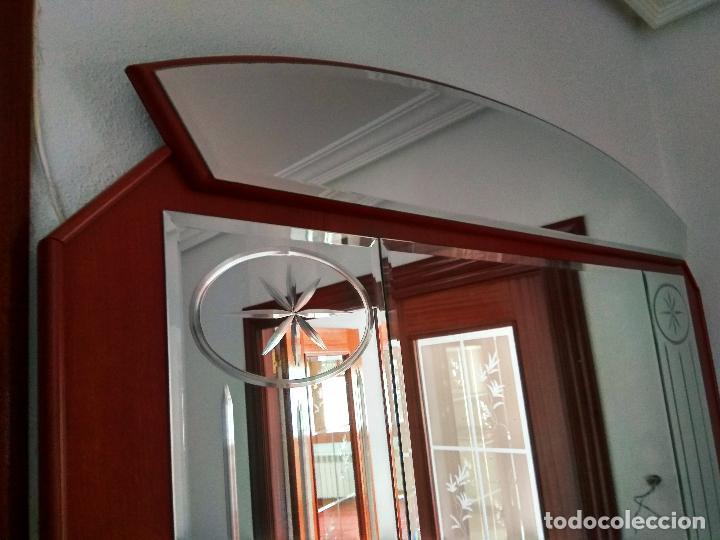 Antigüedades: Mueble recibidor y espejo antiguo - Foto 4 - 119756411