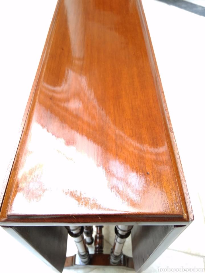 Antigüedades: Mesa auxiliar de alas, plegable, caoba maciza - Foto 12 - 119849306