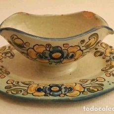 Antigüedades: ANTIGUA SALSERA CERAMICA DE TALAVERA FIRMADA POR NIVEIRO. Lote 119849971