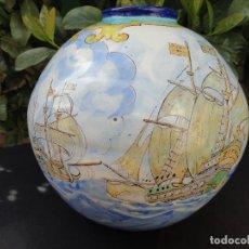 Antigüedades: ANTIGUO JARRÓN DE TALAVERA / MANISES. Lote 119853703