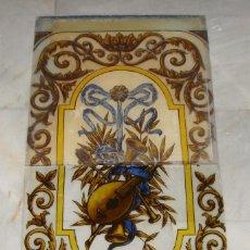 Antigüedades: ANTIGUA VIDRIERA O CRISTALERA. S.XIX. PINTADA A MANO. EN 2 PIEZAS.. Lote 119863151