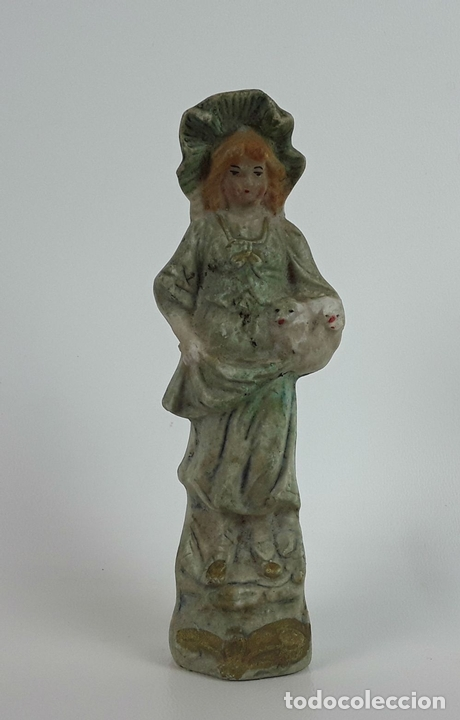 Antigüedades: CONJUNTO DE 3 FIGURAS DE PORCELANA. ALEMANIA. SIGLO XX. - Foto 2 - 119864755