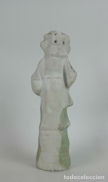 Antigüedades: CONJUNTO DE 3 FIGURAS DE PORCELANA. ALEMANIA. SIGLO XX. - Foto 3 - 119864755