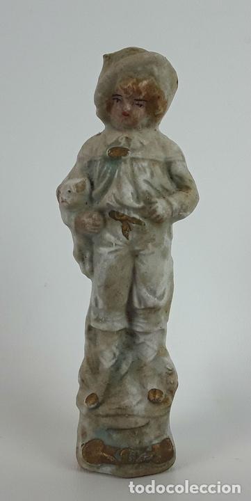 Antigüedades: CONJUNTO DE 3 FIGURAS DE PORCELANA. ALEMANIA. SIGLO XX. - Foto 6 - 119864755