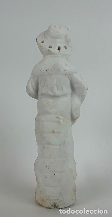 Antigüedades: CONJUNTO DE 3 FIGURAS DE PORCELANA. ALEMANIA. SIGLO XX. - Foto 7 - 119864755