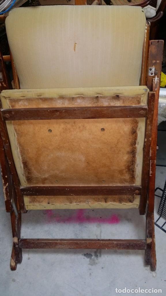 Antigüedades: mecedora plegable original a reparar - Foto 11 - 119913611