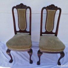 Antiquitäten - Pareja de antiguas sillas Isabelinas - 119914983