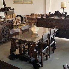 Antigüedades: FANTÁSTICO COMEDOR NEO RENACENTISTA. Lote 119939523