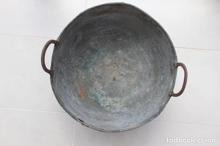 Antigüedades: CALDERA COBRE ASTURIANA ANTIGUA MIRANDA AVILES ASTURIAS ETNOGRAFIA 42 CM - Foto 6 - 119969347