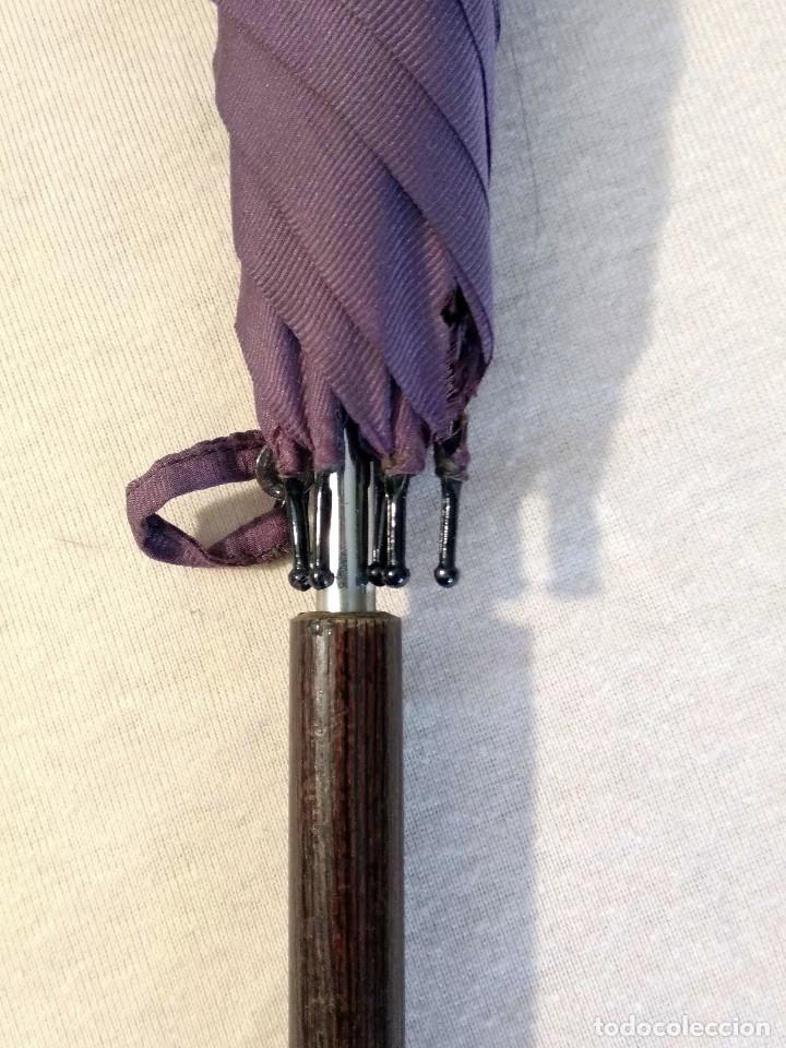 Antigüedades: Sombrilla - parasol, siglo XIX. Tela de seda natural a reponer. - Foto 9 - 119573127