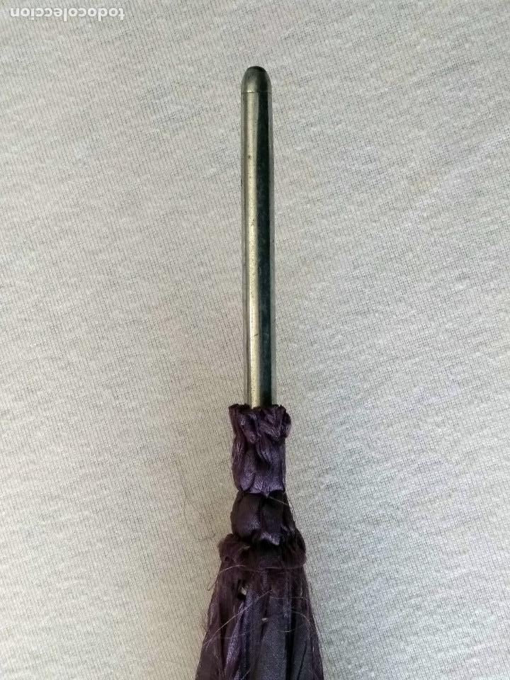 Antigüedades: Sombrilla - parasol, siglo XIX. Tela de seda natural a reponer. - Foto 12 - 119573127