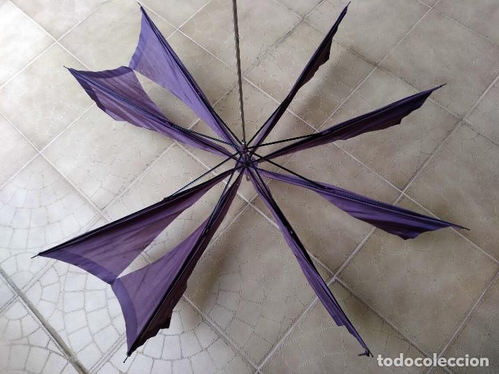 Antigüedades: Sombrilla - parasol, siglo XIX. Tela de seda natural a reponer. - Foto 14 - 119573127