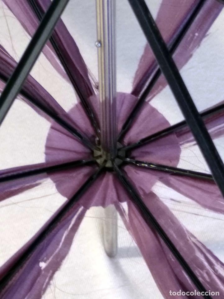 Antigüedades: Sombrilla - parasol, siglo XIX. Tela de seda natural a reponer. - Foto 16 - 119573127