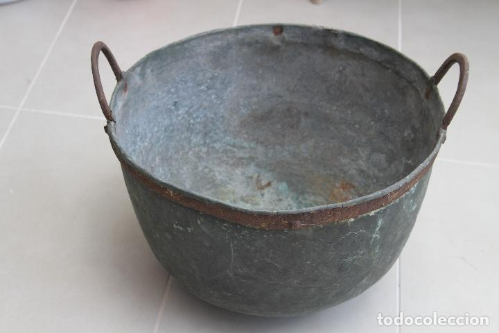 Antigüedades: CALDERA COBRE ASTURIANA ANTIGUA MIRANDA AVILES ASTURIAS ETNOGRAFIA 42 CM - Foto 2 - 119969347