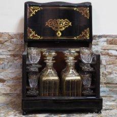 Antiques - LICORERA FRANCESA NAPOLEON III CON MARQUETERIA BOULLE - 119989379