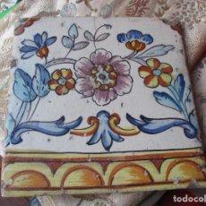 Antigüedades: AZULEJO VALENCIANO SIGLO XVIII. Lote 119994127