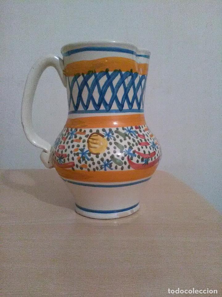 JARRA DE AGUA DE MANISES SIGLO XIX (Antigüedades - Porcelanas y Cerámicas - Manises)