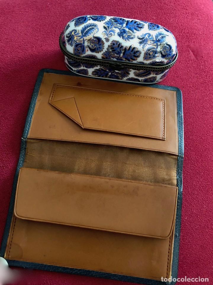 Antigüedades: Cartera de piel y plata punzonada Principios s XX Adorno floral - Foto 8 - 119999267