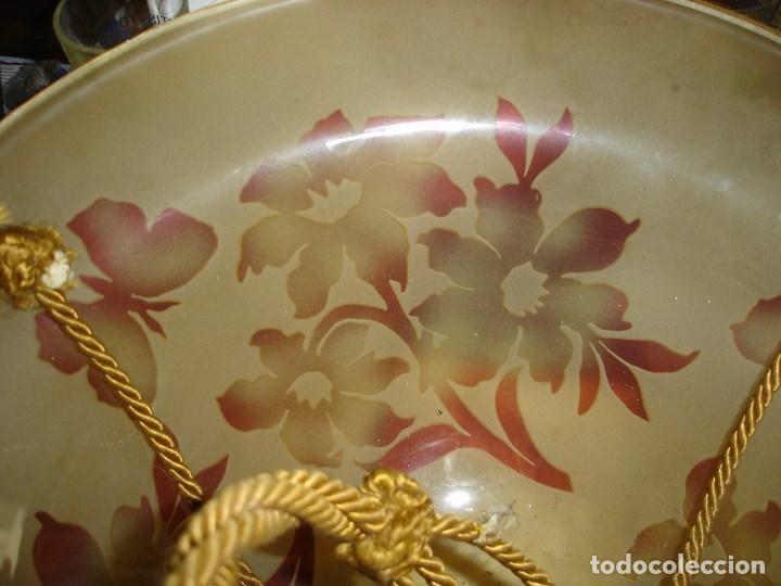 Antigüedades: bonita y firmada lampara art noveau art deco en cristal doblado bacarrat ver fotos - Foto 4 - 120000163