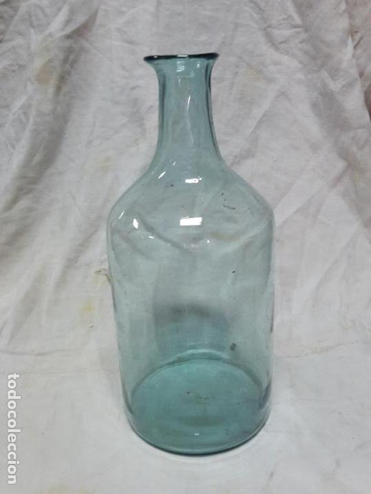 GRAN BOTELLA DE CRISTAL ARTESANO, S XIX, SOPLADO (Antigüedades - Cristal y Vidrio - Otros)