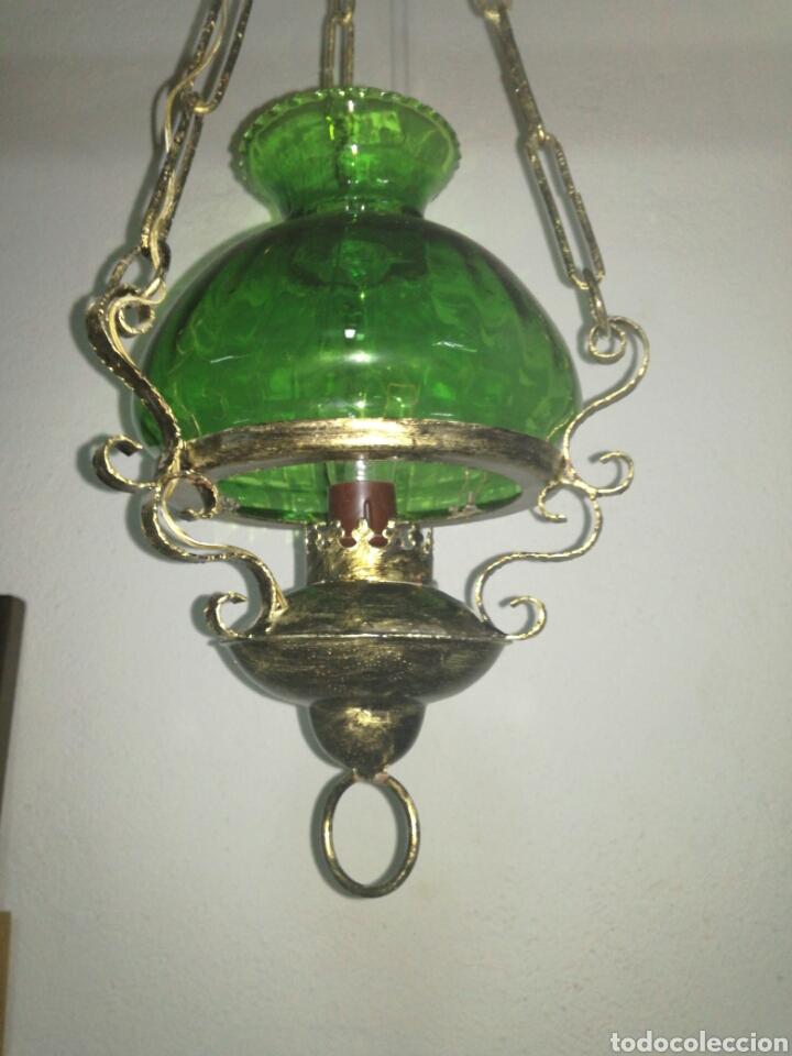 Antigüedades: Lampara farol estilo quinqué - Foto 2 - 120044147