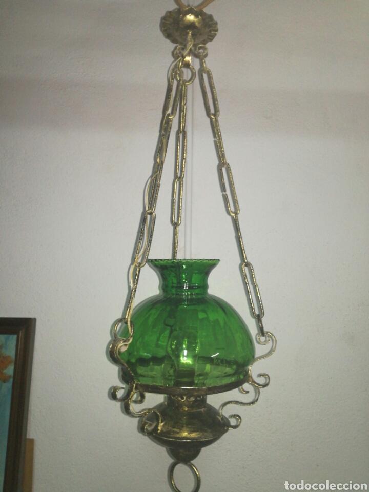 Antigüedades: Lampara farol estilo quinqué - Foto 3 - 120044147