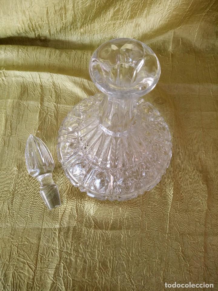 Antigüedades: antigua licorera de cristal de bohemia, república checa - Foto 6 - 120059119