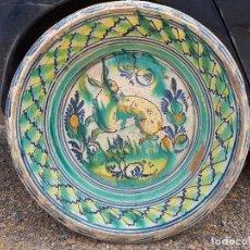 Antigüedades: ANTIGUO LEBRILLO DE TRIANA, PINTADO A MANO. Lote 120064743