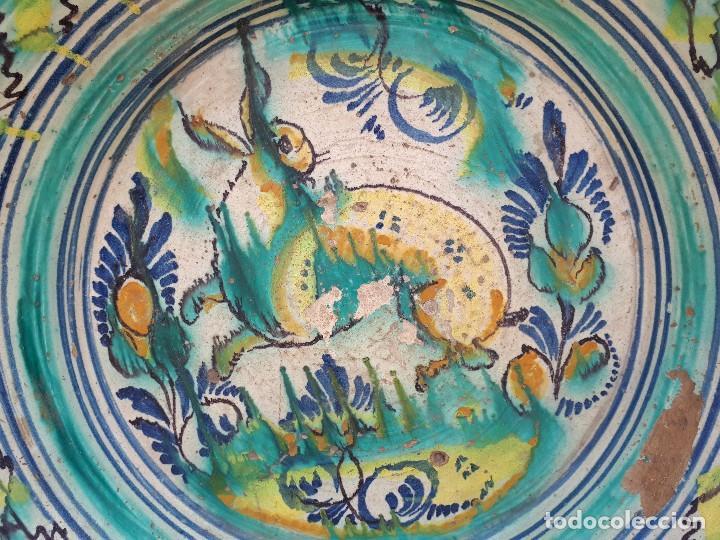 Antigüedades: antiguo lebrillo de triana, pintado a mano - Foto 2 - 120064743