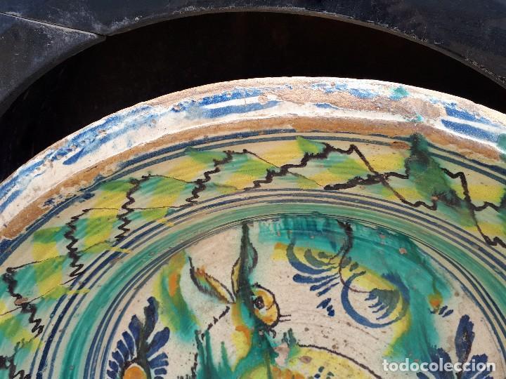Antigüedades: antiguo lebrillo de triana, pintado a mano - Foto 3 - 120064743