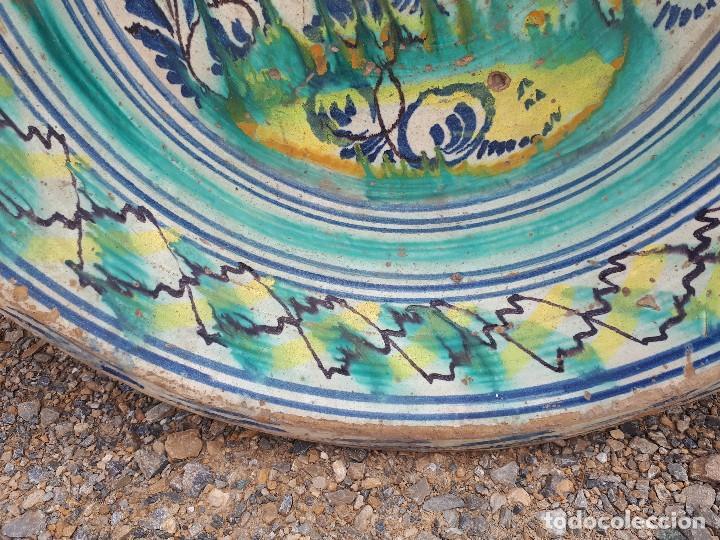 Antigüedades: antiguo lebrillo de triana, pintado a mano - Foto 4 - 120064743