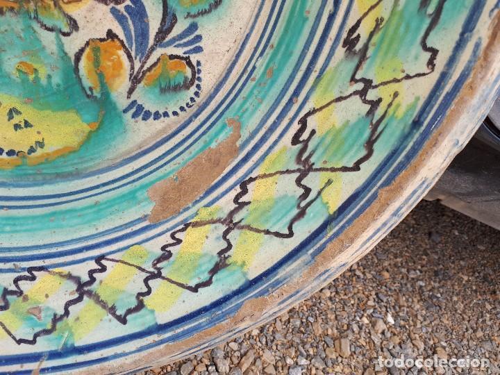 Antigüedades: antiguo lebrillo de triana, pintado a mano - Foto 5 - 120064743
