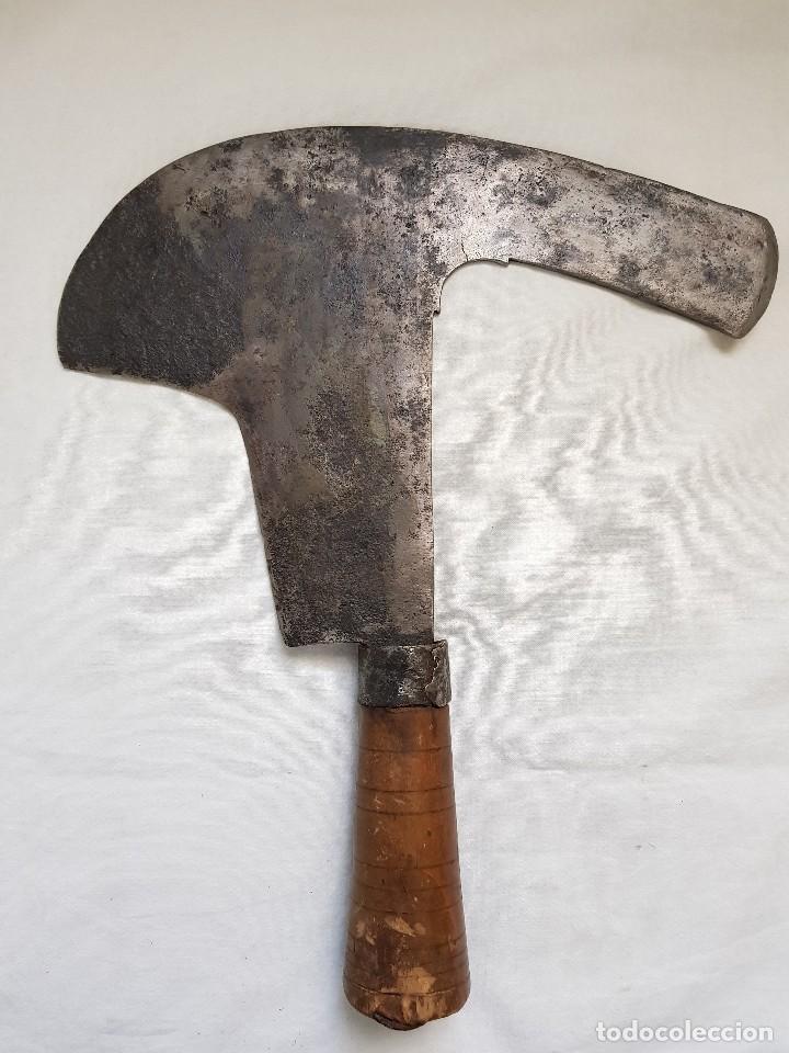 PODÓN ANTIGUO CON FORMA PECULIAR (Antigüedades - Técnicas - Rústicas - Agricultura)