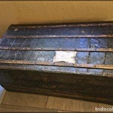 Antigüedades: BAÚL DE VIAJE FINALES SXIX PARA RESTAURAR. Lote 120082487